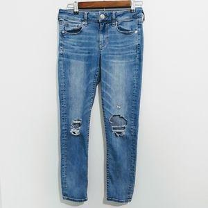 American Eagle Super Stretch Distress Skinny Jeans